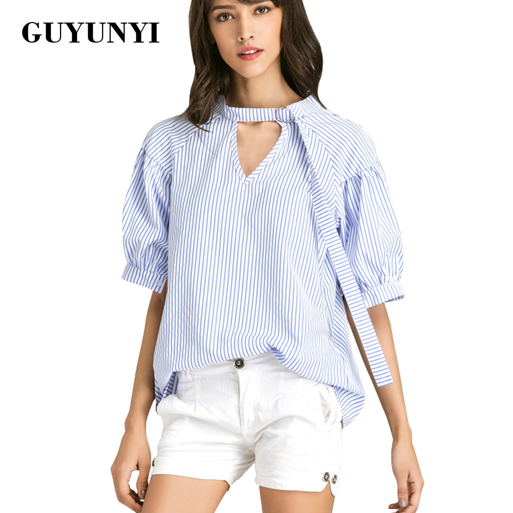 2017 New Fashion Sexy Fashion Women V Neck Tops Tee Half Sleeve Shirt Casual Blouse Loose