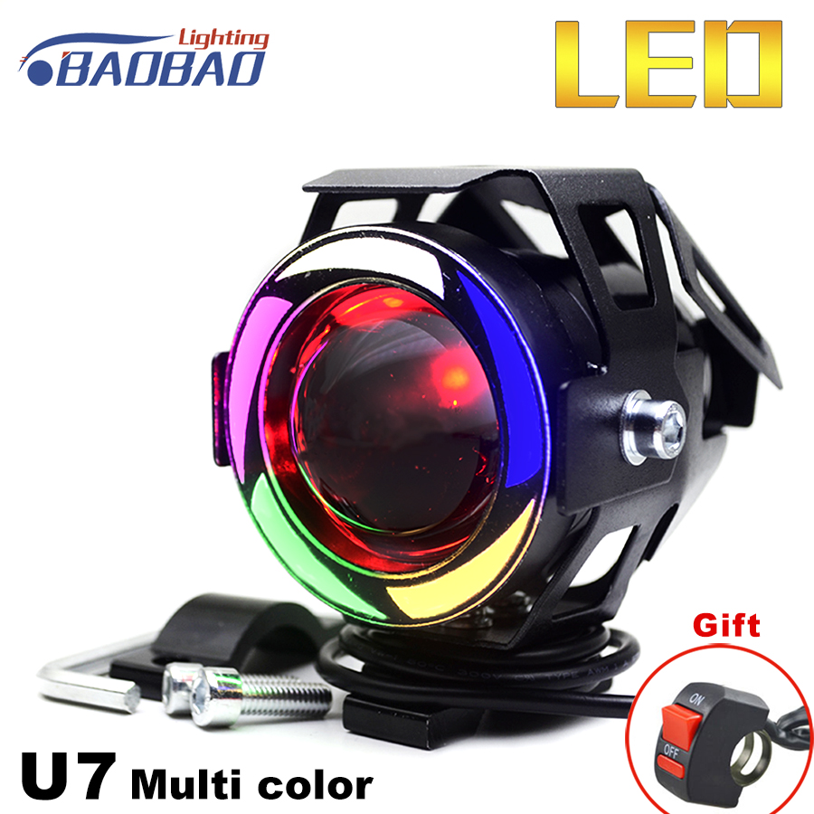 ჱHujo U7 multi Color LED Motores faro ciclo Motores bike spot luz ...