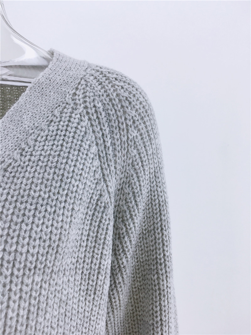 Simenual Casual Fashion Knitted Cardigans Sweater Women Solid Basic Autumn Winter Jumpers 19 Long Sleeve Button V Neck Sweater 6