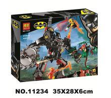 Batman Mech Vs. Poison Ivy Dc Super Hero Building Block Bricks Toys Compatible With Legoings Movie 76117