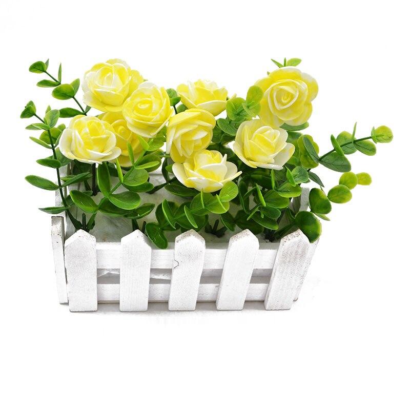 50//100x Mini PE Schaum Rosen Künstliche Blumen Köpfe Für Geschenke Handmade