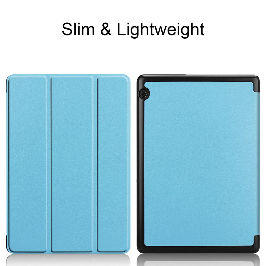 PU Leather Case For Huawei Mediapad T5 10 10.1'' Ultra Slim Tablet Flip Case Folding Stand Cover For Huawei Mediapad T5 10 Funda