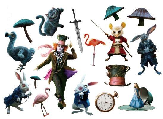 Waterproof Temporary Fake Tattoo Stickers Alice Wonderland Cartoon Joker Design Kids Child Body Art Make Up Tools