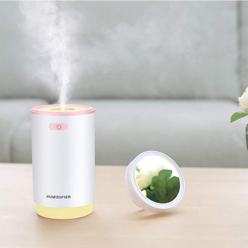 5 в 1 Мини увлажнитель воздуха тумана ночник ароматерапия вентилятор машины макияж зеркало спрей 5 функций-увлажнитель 280 мл
