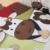 4 PCS bordado conjunto de caracteres berço do bebê berço de algodão, Incluem ( bumper + edredon + folha + travesseiro )