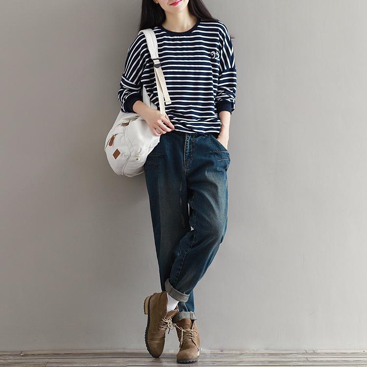17 Winter Big Size Jeans Women Harem Pants Casual Trousers Denim Pants Fashion Loose Vaqueros Vintage Harem Boyfriend Jeans 3