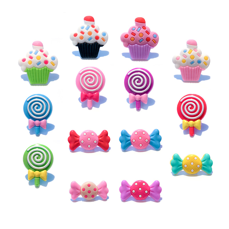 1pc Candy Ice Cream Cakes PVC Shoe Charms,Shoe Buckles Accessories Fit Bands Bracelets Croc JIBZ,Kids Party X-mas Gifts