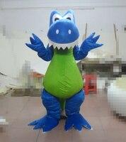 Лидер продаж, Костюм голубого динозавр талисман для взрослых, нарядное платье, костюм на Хэллоуин