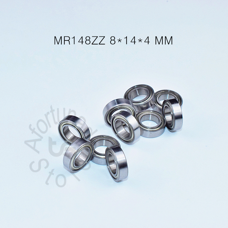 <font><b>MR148ZZ</b></font> 8*14*4(mm) 10pieces bearing metal sealed free shipping ABEC-5 chrome steel miniature bearing hardware Transmission Parts image