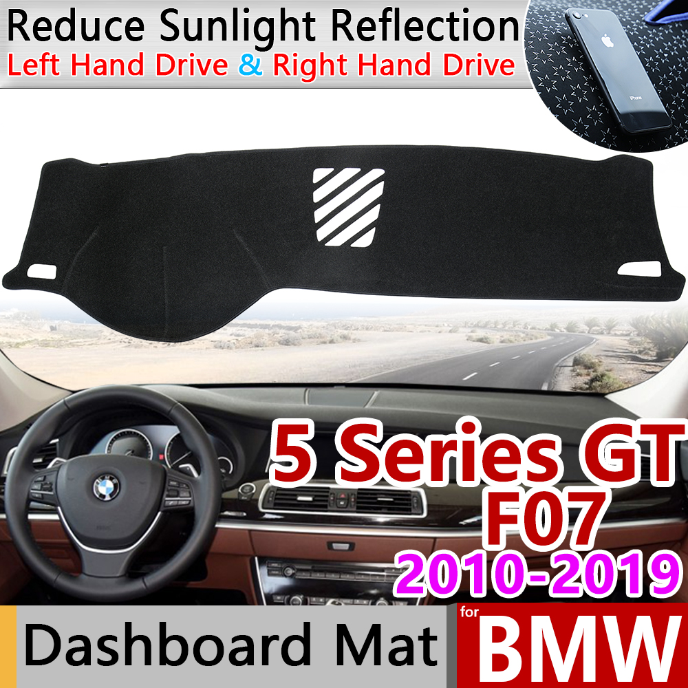 For BMW 5 Series GT F07 2010~2019 Anti-Slip Anti-UV Mat Dashboard Cover Pad Dashmat Protect Carpet Accessories 528i 535i 550i