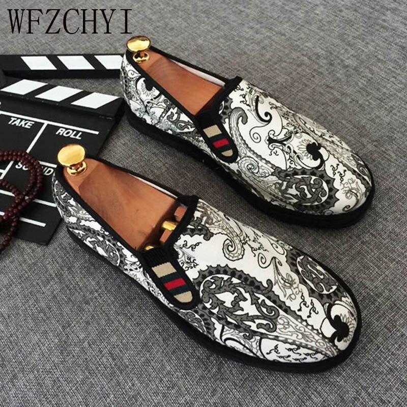 New Men Casual Shoes Men Espadrilles Celebrity Style Breathable Comfortable Flat Shoes Lazy Big Size Sneakers Peas Shoes