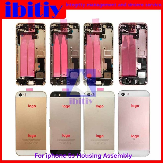 Gold Silver Gray Rose Gold New Complete For iphone 5S Full Middle Frame Housing Cover Assembly with Flex Cable Free+tool