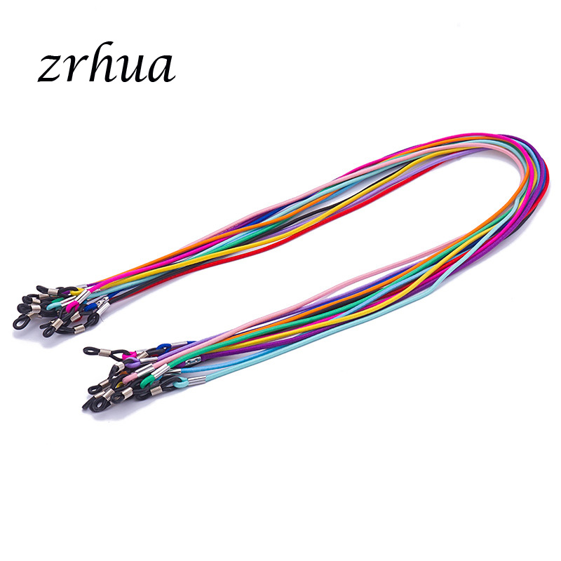 ZRHUA 1 PC Candy Color Elastic Silicone Eyeglasses Straps Sunglasses Chain Anti-Slip String Glasses Ropes Band Cord Holder