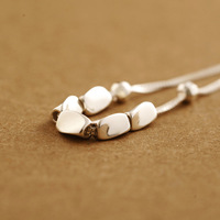 925 Sterling Silver Small Silver Double Bracelet Ladies Korean Simple Jewelry for Women Fashion Gifts