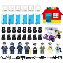 DIY Car Wheels/window/figures Accessories Bricks Parts Kid's Education Toys Compatible With Legoed Classic Building Blocks