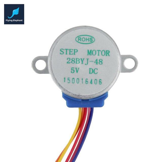 DC 5V 4 Phase 5 Wire Gear Stepper Motor SCM for Arduino 600V AC ...