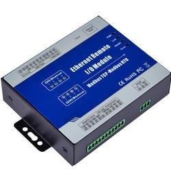 Modbus TCP RTU Ethernet удаленного IO модуль веб-мониторинг в реальном времени 4 цифровой Выход + RJ45 + RS485 Поддержка ШИМ Выход m220T
