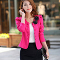 Fashion Korean Veste Femme Blazer Feminino Double-breasted Button Suit Women Blazers and Jackets 2016 Pink Bleiser Mujer Coats