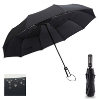 Ветрозащитный три складной автоматический зонт дождь для женщин авто роскошный большой Ветрозащитный зонты Мужская Рама ветрозащитный 10 к...