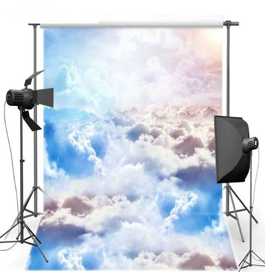 Blue Sky White Clouds photo backdrop Vinyl cloth High quality Computer print wall Scenery Photography Backgrounds