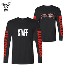 BTS Justin Bieber STAFF 2017 NewStyle Long Sleeve t-shirts Men/Women Spring Autumn Cool Kpop Designs Tee Shirt for Plus Size 4xl(China)