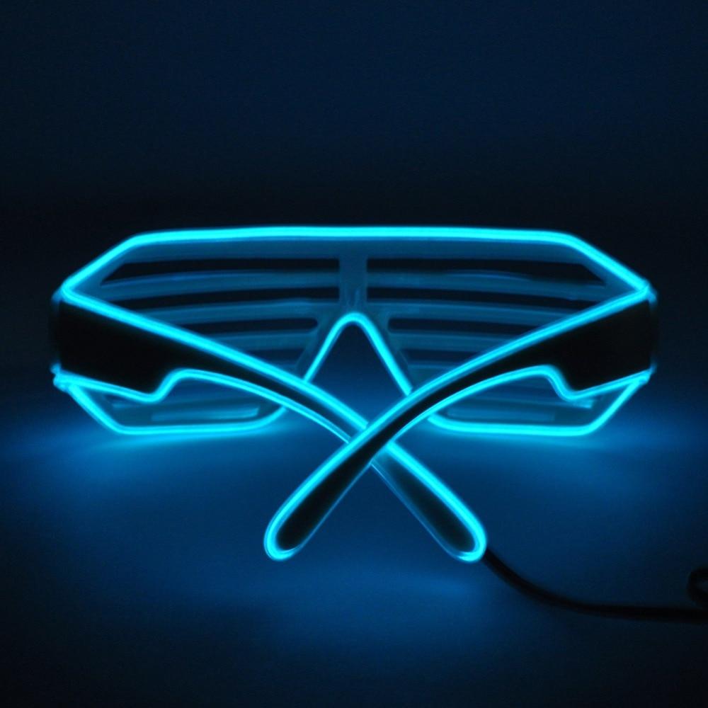 Wholesale 50pcs Blue el glasses El Wire Fashion Neon LED Light Up ...