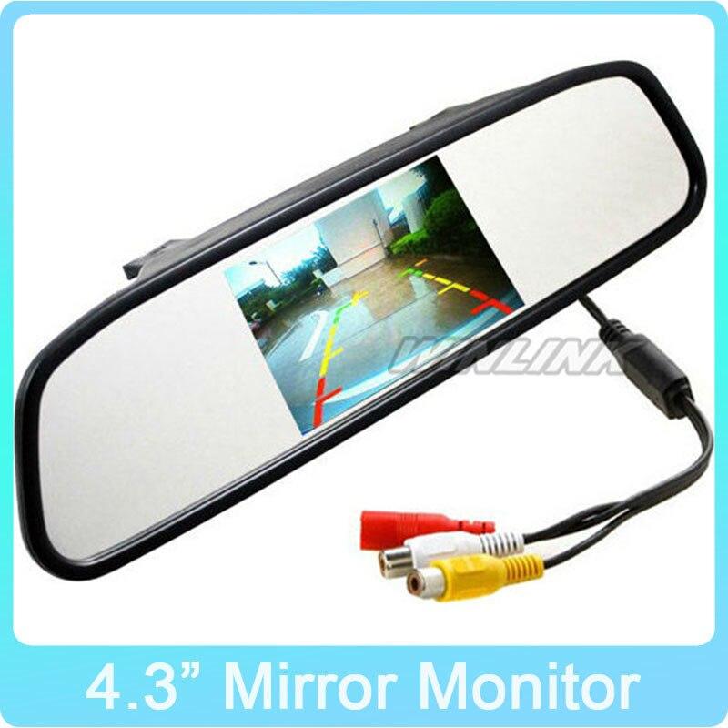 4.3 Polegada TFT Monitor Do Carro Espelho Retrovisor ver Auto LCD de Backup Screen Câmera para Carro Invertendo Registro