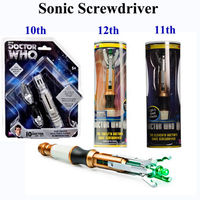NEW Screwdriver Cospaly Light Sounds Official Sonic Toys 10th 11th 12th Doctor Dr WHO Collector Action