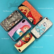 Coque Cute matryoshka For iPhone XS Max Case 7 Plus case for 5 6 8 X XR Cases Cover