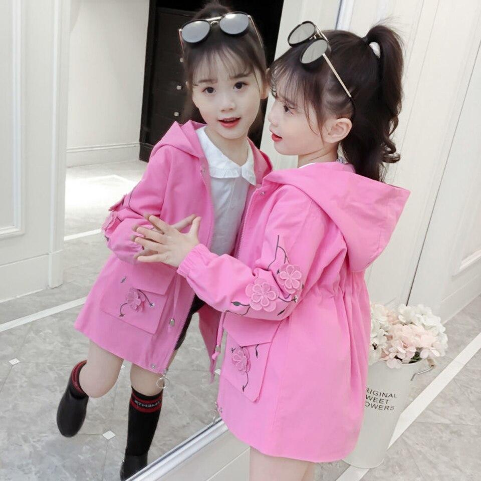 Весенняя ветровка для девочек, пальто для девочек 4, 6, 8, 10, 12 лет, детская верхняя одежда, осенние куртки для девочек, детская одежда, 2019 Куртки и пальто    АлиЭкспресс