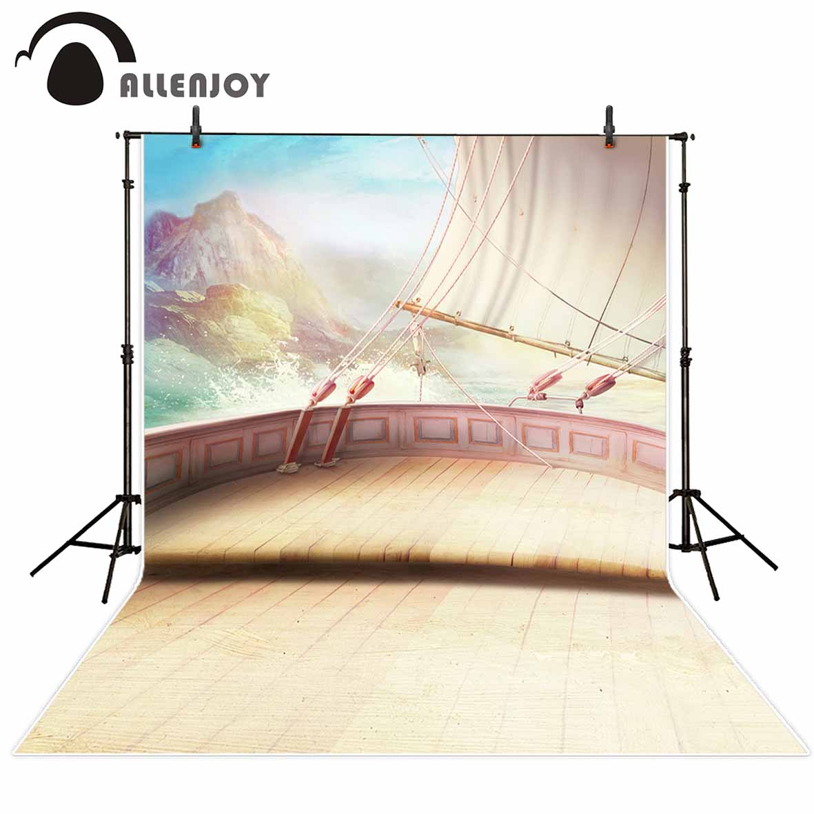 Allenjoy photo backdrops Boat ocean rafting classical travel background photocall newborn original design for photography studio allenjoy photography backdrops book shelf in library graduation season background for photo studio