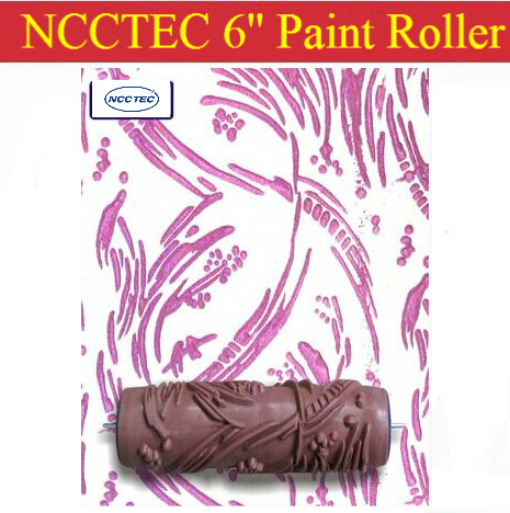 6'' NCCTEC soft rubber decorator roller FREE shipping | 150mm wall paint roller tools