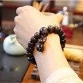 Ubeauty Ручной работы реального персик деревянные бусины браслет Будды браслеты для мужчин женщин