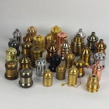 Винтажный подвесной светильник Эдисона с цоколем E27 с винтовой лампой, алюминиевый светильник, патрон, промышленный Ретро фитинг, держатель лампы