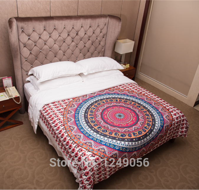 Charitable Indian Hippie Bohemia Tapestry Tapestry 200cm Indian Microfiber Bed Sheet Soft Wall Carpet 2018 Excellent Quality In