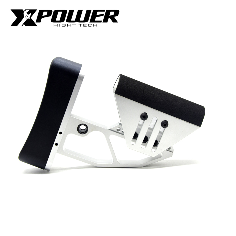XPOWER TB Adjustable Stock For AEG Air Guns CS Sports Paintball Airsoft Accessories J8 J9 Tactical-in Paintball Accessories from Sports & Entertainment
