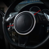 Interior Steering Wheel Decorative Cover Trim For Porsche Panamera Cayenne Macan 2010 16 Aluminium Alloy Sequins