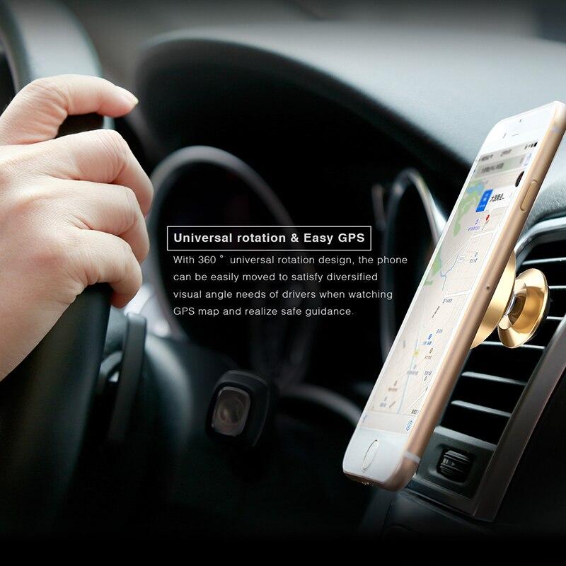 Baseus dudukan telepon mobil untuk iphone 7 samsung 360 derajat - Aksesori dan suku cadang ponsel - Foto 4