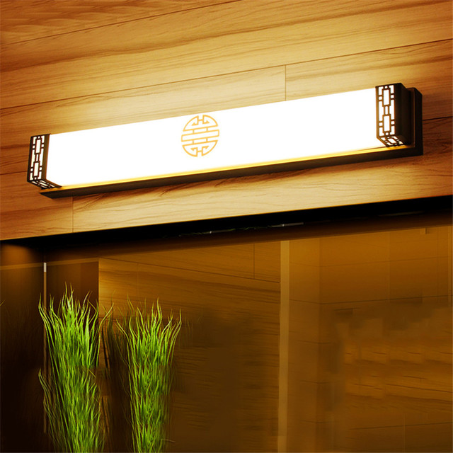 20W 48CM Luxury Bathroom Mirror Lamp Waterproof Retro Bronze Cabinet ...
