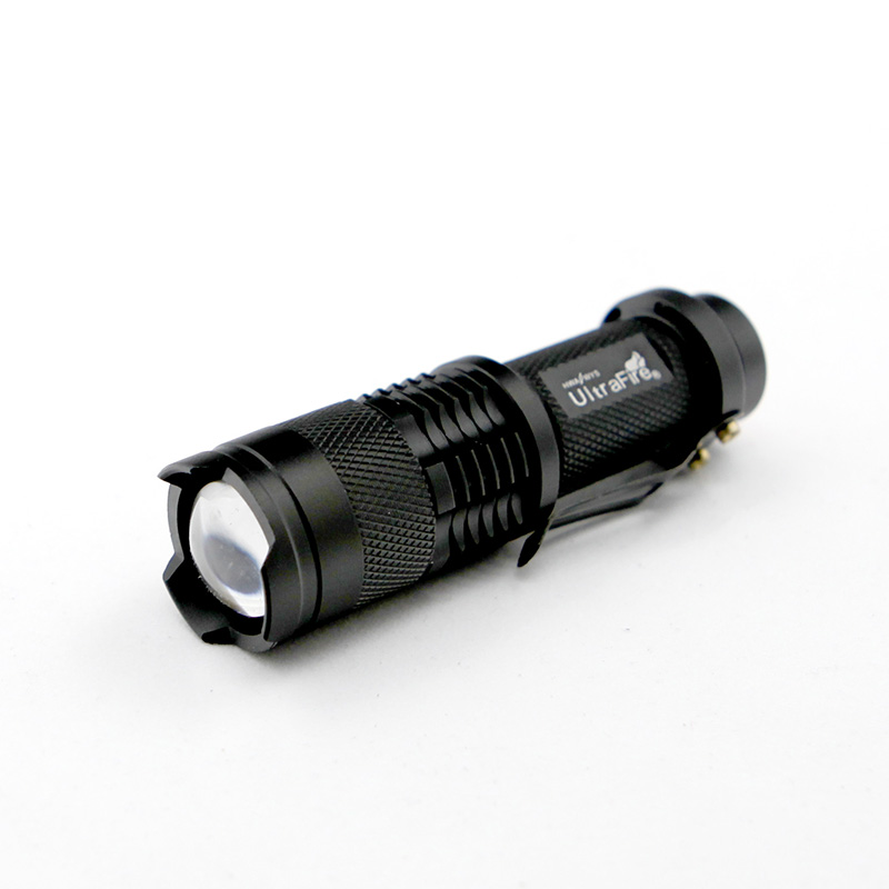 MACLOU CREE Q5 Mini Black 2000LM Waterproof LED Flashlight 3 Modes Zoomable LED Torch penlight