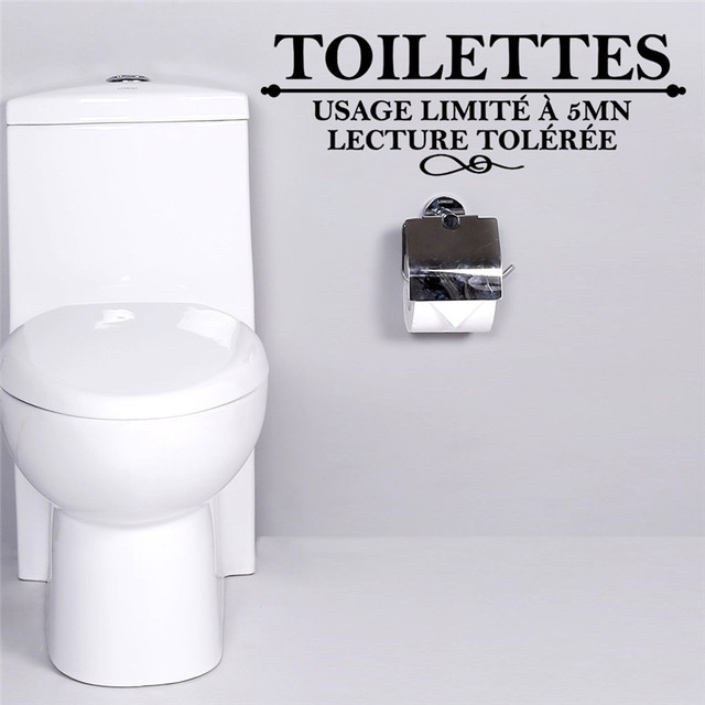 French Toilet Wall Stickers Usage limite a 5 mn Toilettes stickers ...