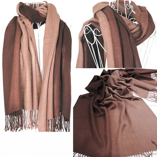 2018 hijab women   Scarf   winter female warm gradient color   scarves     wraps   shawls cashmere long   scarf   women cachecol feminino