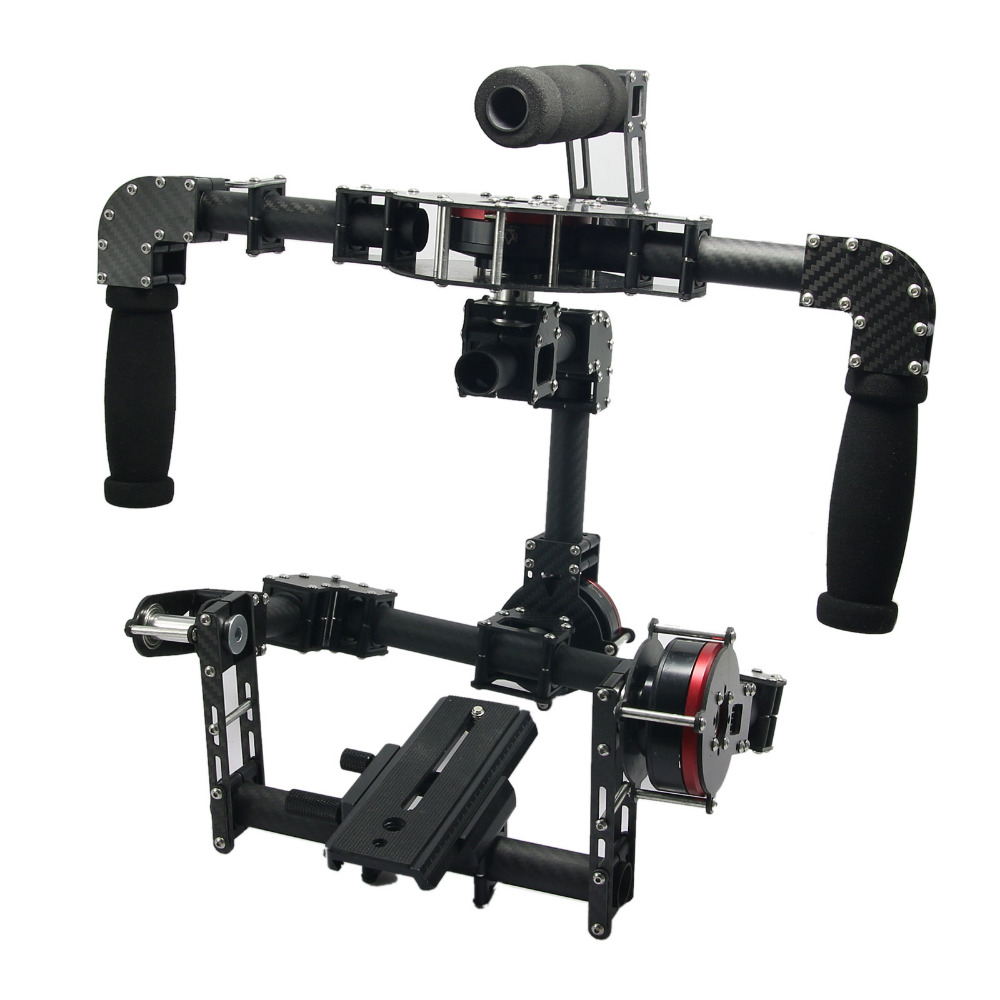 TZT 3 Axis Handheld Brushless Gimbal with 3pcs Motors Stabilizer PTZ Mount for DSLR Camera 330 9847 725 10225 replacement projector lamp with housing for dell s300 s300w s300wi projectors happy bate
