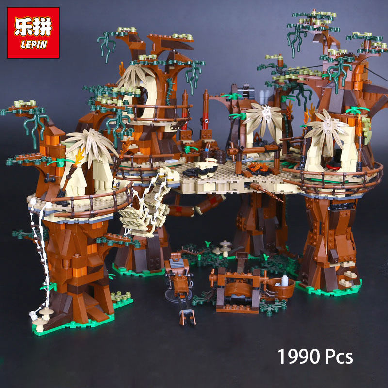 Lepin 05047 Star Wars Ewok Village Set Educational Building Bricks Toys For Children Compatible with Legoing 10236 artkal beads 28 color with pegboards accessories box set perler mini beads plastic eva educational toys for children ca28