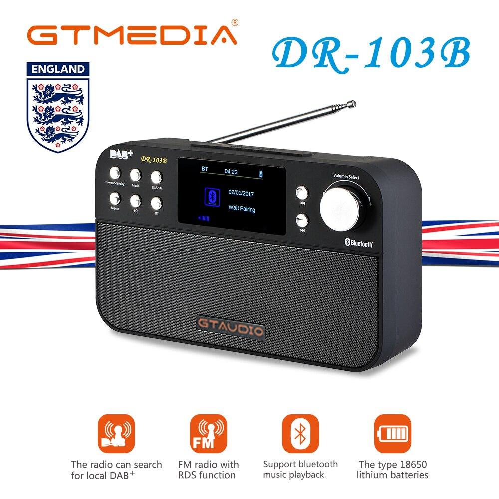 Radio FM DAB Portable dr103b dr103 FM RDS horloge/alarme/minuterie de sommeil Radio Portable récepteur mondial pleine bande FM 87.5-108 MHz