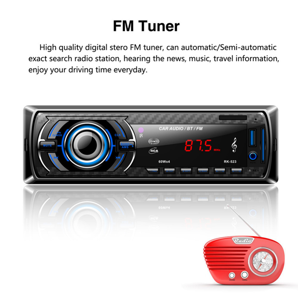 1 * Car Stereo Audio MP3 Player 1 * Cable 1 * Remote Control 1 * English User  Manual 2 * Key