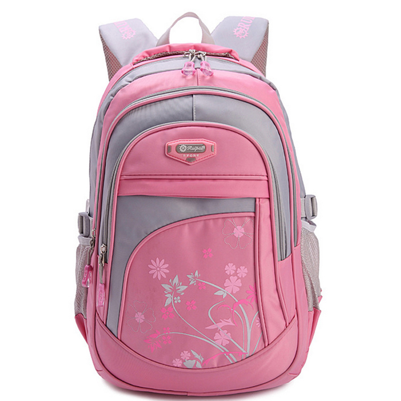 124009039f72 Floral Printing School Bag Backpack For Girls Boys Teenagers Cute ...