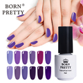 New Arrival 1 Bottle 5ml Born Pretty Charming Purple Series Nail UV Gel Soak Off Nail Polish UV Glue 12 Colors