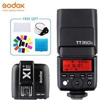 Godox TT350 Mini TT350C Speedlite flash TTL 2.4G+X1T-C Transmitter Wireless Flash Trigge for Canon Camera 1100D 1000D 7D 6D 60D
