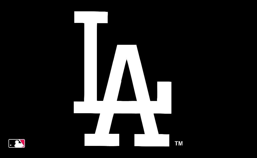 Los Angeles Dodgers Black White Logo Flag 3x5 Ft Banner 100d